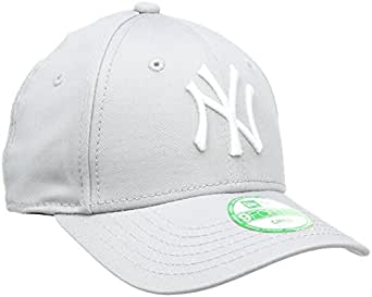 New Era Boy's KIDS MLB BASIC NY YANKEES 9FORTY ADJUSTABLE GREY Cap, Grey, One size (Manufacturer size: Taille unique)
