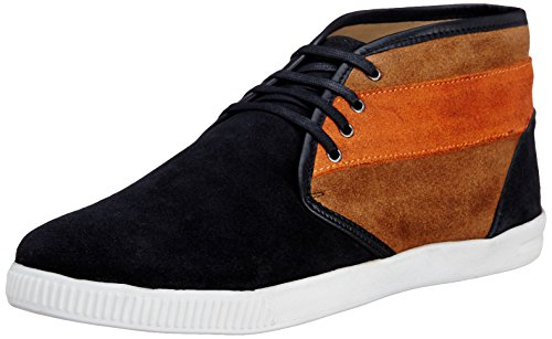 Famozi Famozi Men's Suede Leather Chukka Sneakers (Multicolor)