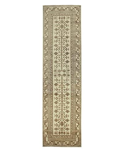 Bashian Rugs Hand-Knotted Pakistani Kotan Rug, Beige, 3' 4 x 12' 4 Runner