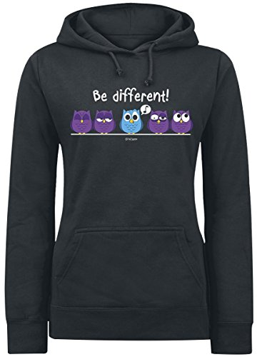 Be Different! Felpa donna nero XL