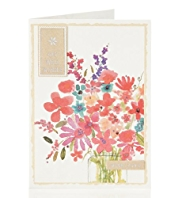 Get Well Floral Bouquet Greetings Card