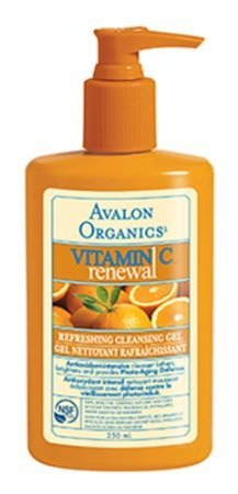 Avalon Organics Refreshing Cleansing Gel, Vitamin C, 8.5 Ounce renew avalon organics vitamin c hydrating cleansing milk 8 5 ounce bottle pack of 6