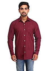 Snoby maroon cotton shirt SBY8081