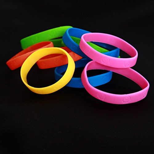 Dazzling Toys Rubber Neon Monkey Bracelets - Pack of 24 - Makes Great Kids Party Favors!