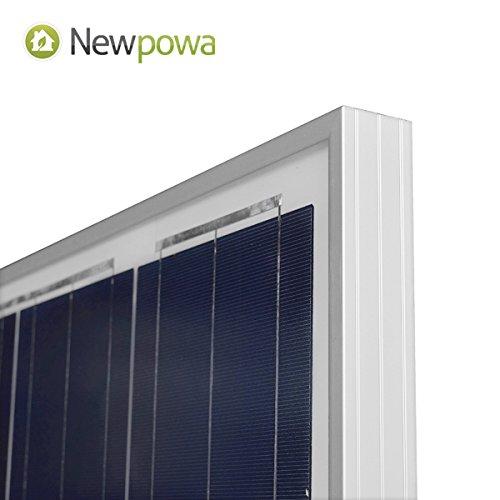 Newpowa 100 Watts 12 Volts Polycrystalline Solar Panel 100W 12V High Efficiency Module Rv Marine Boat Off Grid