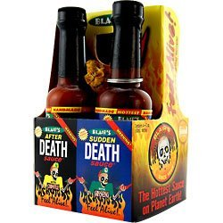 Hot Sauce, Gift Set, Blair's Mini Death Hot Sauce 4-Pack, 2oz Glass Jars image