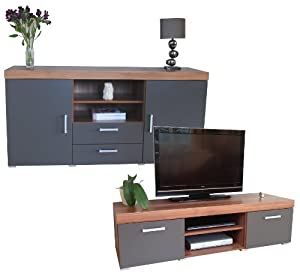 Graphite Walnut Sydney Large Sideboard Tv Cabinet
