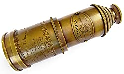 Kartique Vintage style 20 inch Brass Marine Telescope with Lens Cover - Binoculars/ Optics/ gifts