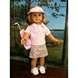 """PINK GOLF SET - Fits American Girl 18"""" Doll Clothes 8 PCS - American Girl Locker ~ Doll Connections"""