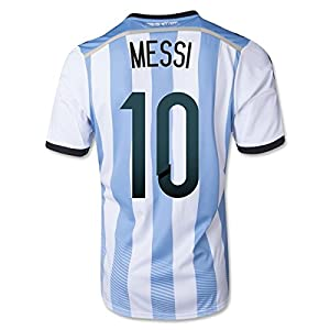 #10 MESSI Argentina Home 2014 World Cup Kid Soccer Jersey & Matching Short Set (Youth M (8 to 10 Years Old))