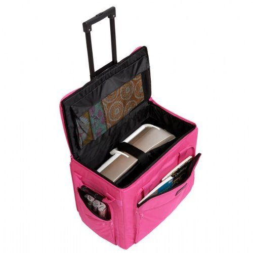 Creative Notions Xl Sewing Machine Trolley In Pink front-292276
