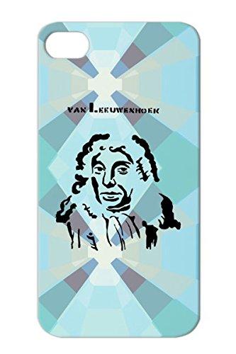 Art Design Dutch Van Leeuwenhoek Scientist Microscope Stencil Biologist Miscellaneous Black Antonie Leeuwenhoek Tpu For Iphone 4 Case