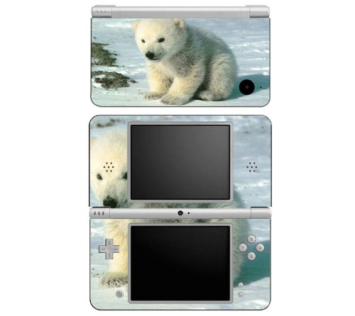 Baby Polar Bear Cub Decorative Protector Skin Decal Sticker for Nintendo DSi XL Handheld Portable Video Game Console
