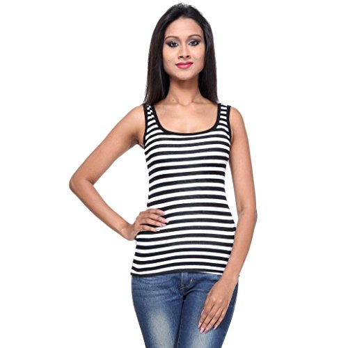 TeeMoods Womens Striped Tank Top