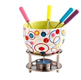 Kitchen - Mastrad F47529 Fondue Set, Pop Circle Design, Assorted Colours