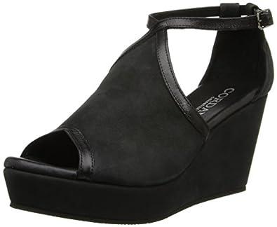Cordani Women's Fatine Platform Sandal,Black,35 EU/5 M US