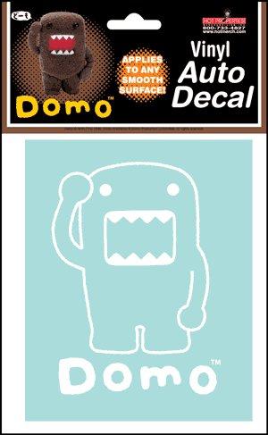 Domo Window Sticker ~ Domo vinyl Auto Rub on Decal