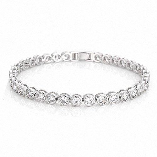HONGYE-JEWELRY-Women-Patinum-Plated-Round-Cut-5mm-Cubic-Zirconia-Tennis-Bracelets