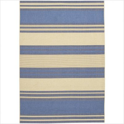 Couristan 3071/0123 FIVE SEASONS South Padre 63-Inch by 90-Inch Polypropylene Area Rug, Blue/Cream