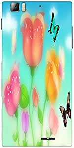 Snoogg sparkling roses and butterflies 2700 Designer Protective Back Case Cover For Lenovo A6000