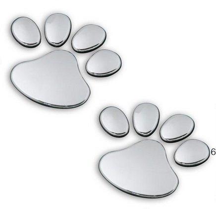 Eyourlife 3D Chrome Dog Paw Footprint Sticker Decal Auto Car Emblem Decal Decoration Color Silver (Car 3d Emblem compare prices)