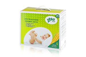 XKKO ECO 100% Biodegradable Diapers Size S ( 40 Pieces/Box)