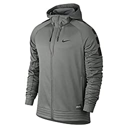 Nike Mens Elite Stripe Basketball Hoodie Sweatshirt, Tumbled Grey/Deep Pewter/Black, Medium