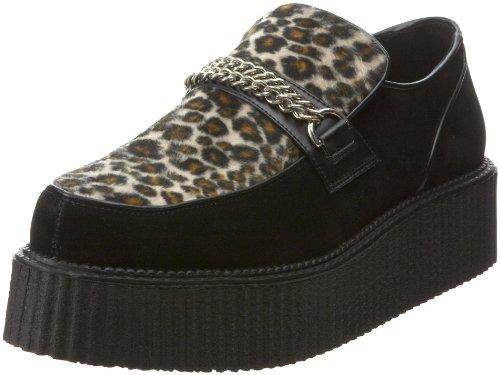 Demonia V-Creeper-509s - scarpe gotiche punk Industrial Creeper cuoio 36-48, US-Herren:EU-38 (US-M6)