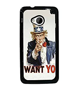 PrintDhaba Funny Image D-5288 Back Case Cover for HTC ONE M7 (Multi-Coloured)