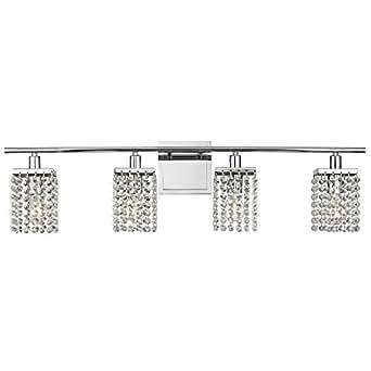4 light crystal bathroom vanity light for Crystal bathroom vanity light fixtures