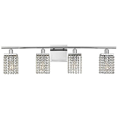 4-Light Crystal Bathroom Vanity Light