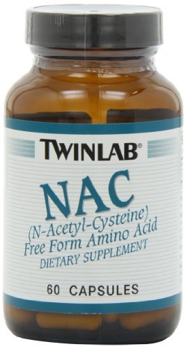 Twinlab NAC 600mg, 60 Capsules (Pack Of 2)