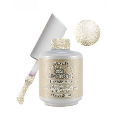 Ibd Just Gel Nail Polish Haute Frost Collection Siberian Minx .5 Oz Light Beige