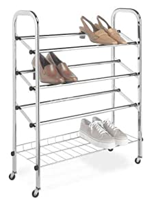 Whitmor 6060-580 Rolling Shoe Rack