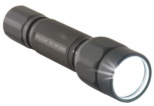 Pelican Tactical Flashlight, Led, Black, 177 L