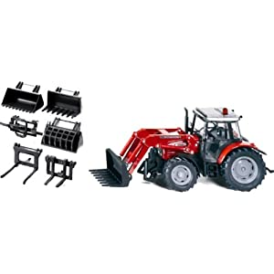 Amazon.com: Massey Ferguson 894 Tractor with Front Loader Set: Toys