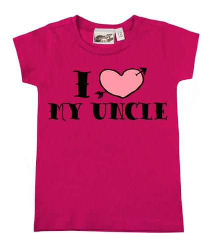 I <3 My Uncle Tattoo Hot Pink Baby & Toddler T-Shirt (6-12 Months) front-784326