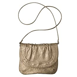 Product Image Xhilaration® Gathered Flap Crossbody - Gold
