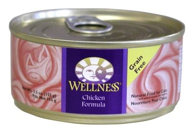 Wellness Canned Cat Food for Adult Cats, Chicken Formula (Pack of 24 5.5 Ounce Cans)