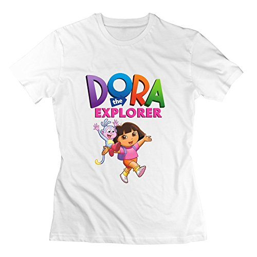 [Seico Women's Dora The Explorer Boots T Shirts White Size XL] (Swiper Costumes For Adults)