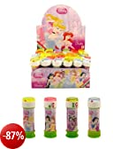 Pack of 6 Disney Princess Bubbles Kids Party Bag Fillers Maze On Lid Tubs by Kids Bubbles