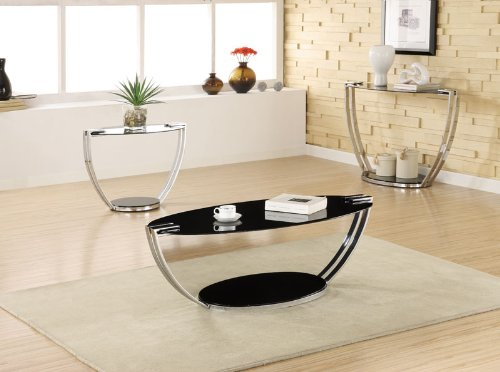 Image of Bella End Table in Chrome Finish (B003XR69KW)