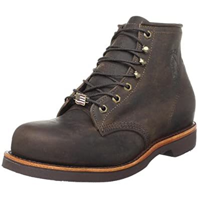 """Chippewa Men's 6"""" Chocolate Apache Steel Toe Lace-Up Boot,Chocolate,6 D US"""