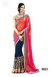 Shyam creation New Embroidered Fancy Multicolor Saree(pari)