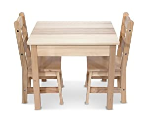 Melissa & Doug Wooden Table and 2 Chairs Set by Melissa & Doug