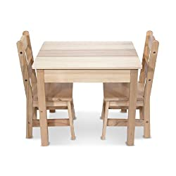 [Best price] Kids&#039 - Melissa & Doug Wooden Table and 2 Chairs Set - toys-games