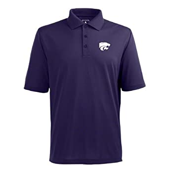 Buy NCAA Kansas State Wildcats Pique Xtra Lite Desert Dry Polo Mens by Antigua