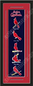 Heritage Banner Of St. Louis Cardinals With Team Color Double Matting-Framed Awesome... by Art and More, Davenport, IA