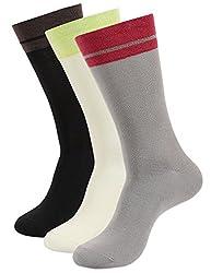 Balenzia Men's Crew Length Socks (Pack Of 3) (Jagmini26_Multi)