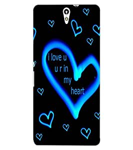 ColourCraft Love Quote with Image Design Back Case Cover for SONY XPERIA C5 ULTRA DUAL